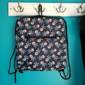 Handbags - Draw String Skull backpack NWOT